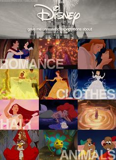 Disney...... and the things they wrongly showed us poor girls.