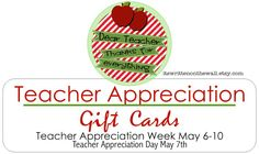 It's Written on the Wall: Teacher Appreciation Gift Tags