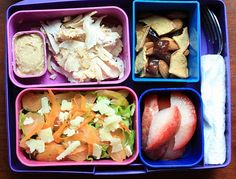 This site has literally hundreds of paleo lunch ideas for adults and kids.  I want one of those 4-compartment lunchboxes!