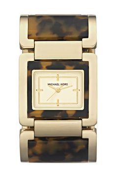 Michael Kors Tortoiseshell Bangle Watch (bought this!) :)