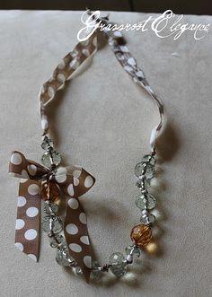 Ribbon necklace #diy