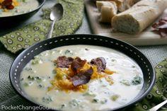 Broccoli Cheddar Soup | Recipe on PocketChangeGourmet.com