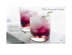 Pink Lemonade Cocktail