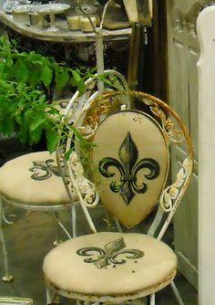 Love these Fleur de Lis Chairs