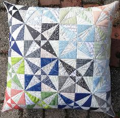 Reflected Textures Pillow by Jess Frost