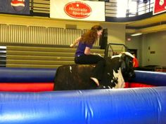 Riding the mechanical bull for SOMDAY during Last Blast!