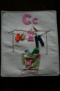 clotheslines, book idea, craft, quietbook, quiet books
