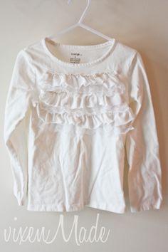 Ruffles & Lace Embellished Shirt
