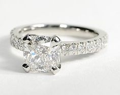 Nouveau Diamond Engagement Ring in Platinum #BlueNile #Engagement