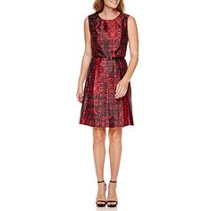 This dress is could be worn to work with a blazer or cardigan and into the evening for that special holiday party. #sponsored jcpenney.com | Liz Claiborne Sleeveless Fit & Flare Dress