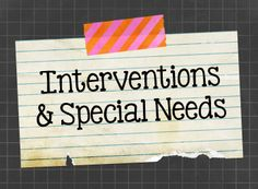 Teaching ideas and resources that support students with special needs.