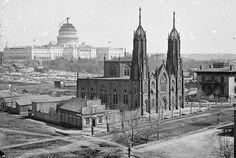 Washington DC c. 1863....during the Civil War...Capital Dome not finished