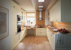 #Kitchen Idea of the Day: Modern Cream-Colored Kitchens. (By ALNO, AG). Small kitchen idea...