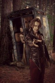 Belle and Rumplestiltskin - Once Upon A Time and Doctor Who crossover edit. I love it!