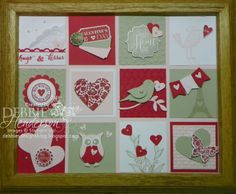Valentine's Frame made with Stampin' Up! products by Debbie Henderson, Debbie's Designs.
