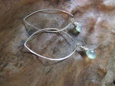 Waterfall - Aqua chalcedony & sterling silver earrings. $32.00, via Etsy.