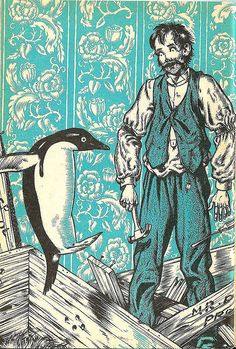 'Mr. Popper's Penguins' illustration    illustrated by Robert Lawson.