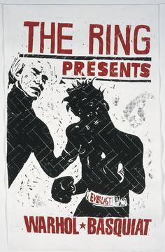 jean-michel basquiat artwork | ... Andy Warhol and Jean Michel Basquiat Boxing', 2000© Thomas Kilpper