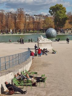 Enjoying the Sun - Tuileries, Paris