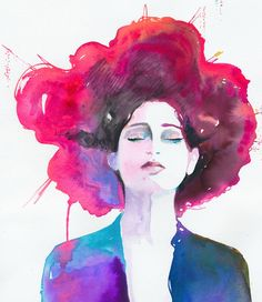 I am still obsessing over portraits and watercolor. My new crush today is artist Cate Parr. She has one of my favorite shops on Etsy. Her fashion portraits are vibrant, colorful and fun. Love the m...