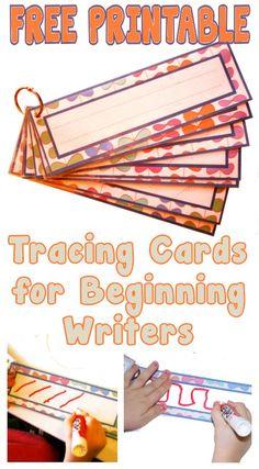 See Jamie Teach Homeschool: Tracing Cards for Beginning Writers