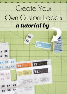 great idea for making custom tags on Spoonflower