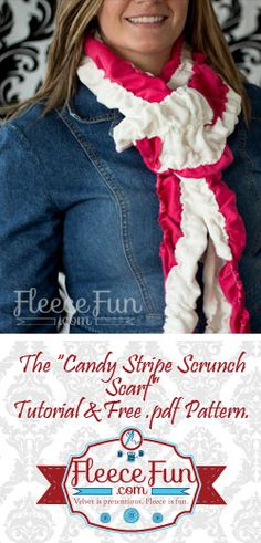 Great ( yet subtle) way to get into the holiday spirit! You can make a cute minky and jersey knit scarf.  Easy DIY