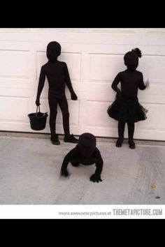 Halloween costume idea! Shadows! Easy and smart!