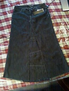 Jean skirt from jeans