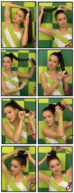 sockbun, long hair, art, curls, braids