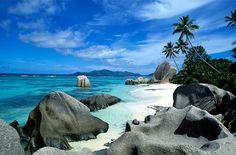 Anse Source d'Argent, La Digue, Seychelle. (northeast of Madagascar) Photo by Victoria White
