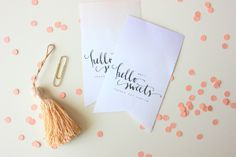 Free hello sweets printable from A Fabulous Fete. So cute!