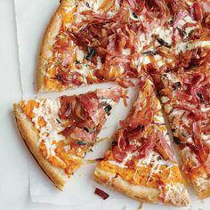 Sweet Potato, Balsamic Onion and Sopressatta Pizza