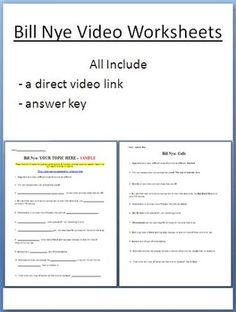 Bill nye cells worksheet free