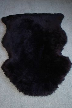 Black Washable Sheepskin