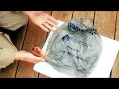How to make cordage, string, fishing line, from plastic and grocery bags, BUSHCRAFT GLOBAL - YouTube