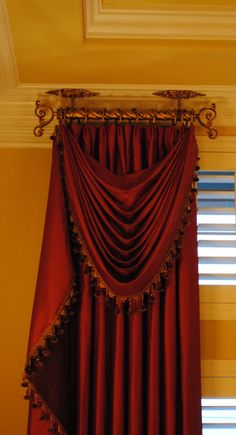 Beaded swag / jabot curtain exclus, window treatments