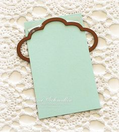 tag edge using Spellbinders Labels 6 die   ***try scalloped ovals, circles for different effects