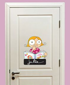 Look what I found on #zulily! Girl Door Sign Decal #zulilyfinds