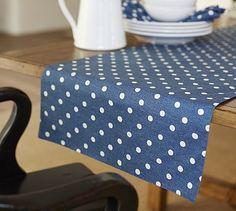 Polka Dot Table Runner #potterybarn