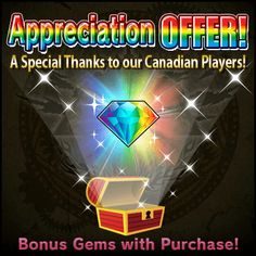 Get additional gems for your accumulated gem purchases from Nov 25 to Dec 1 PST!