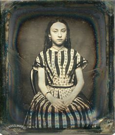 Portrait of young girl, ca. 1840s.  (That date seems awfully early....)