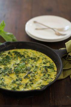 Zucchini Basil and Kale Frittata