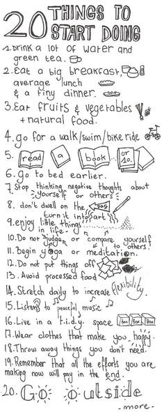 Things To Start Doin