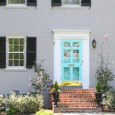 bright blue door