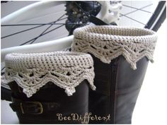 Crochet Boot Cuffs - leg warmers - boot toppers ready to ship. $29.00, via Etsy.
