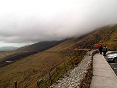 Heavy Clouds on Conor Pass, Dingle Peninsula, Ireland - one of two roads that will take you to Dingle.