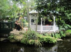 The Gazebo at The Sundy House in Delray is a perfect spot for an intimate wedding ceremony with Florida Harpist Esther Underhay. #EstherUnderhay #ElegantHarp #SundyHouse #DelrayBeach #FloridaWedding #FloridaWeddingVenue