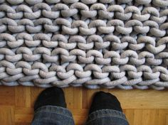 knitted rope rug