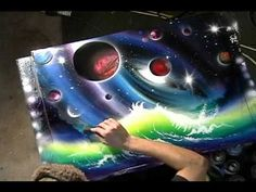 art on pinterest spray paint art space painting and spray painting. Black Bedroom Furniture Sets. Home Design Ideas